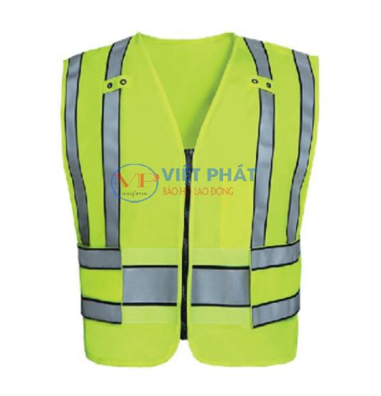 Áo Ghile xanh lá lưới phản quang bảo hộ lao động ĐPLĐ01