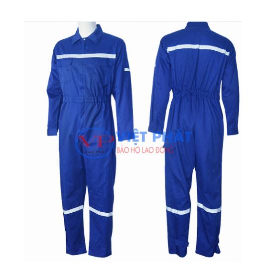 Quần áo đồng phục công nhân cơ khí màu xanh